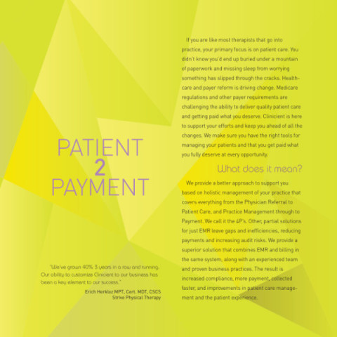 Clinicient Physical Therapist SaaS Software Graphic Design