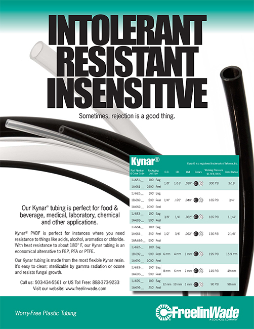 Freelin-Wade Plastic Tubing Sell Sheet - Ron J. Miller Marketing